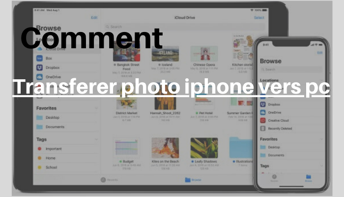 Comment transferer photo iphone vers pc: le guide ultime